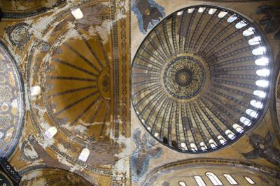 Turkey, Istanbul, Hagia Sophia, Decorated Dome