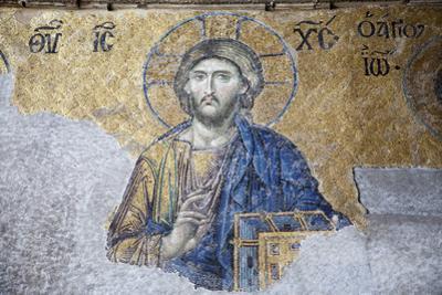Turkey, Istanbul, Hagia Sophia, Deesis Mosaic