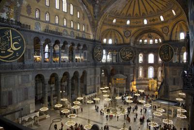 Turkey, Istanbul, Hagia Sophia, Interior