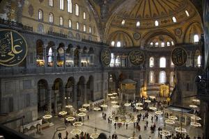 Turkey, Istanbul, Hagia Sophia, Interior by Samuel Magal
