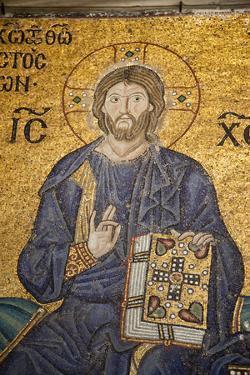 Turkey, Istanbul, Hagia Sophia, Mosaic of Empress Zoe and Emperor Constantine IX Monomachos by Samuel Magal