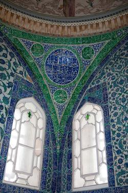 Turkey, Istanbul, Topkapi Palace, Interior, Decorated Pendentive by Samuel Magal