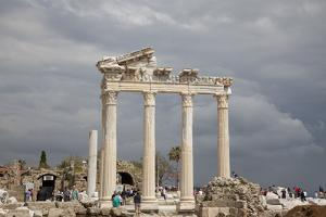 Turkey, Side, Temple of Apollo by Samuel Magal