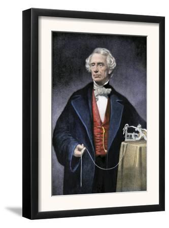 Samuel Morse with His Invention, the Telegraph
