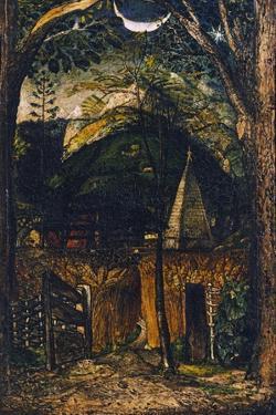 A Hilly Scene by Samuel Palmer