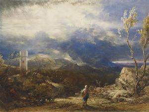 Christian Descending into the Valley of Humiliation (From 'The Pilgrim's Progress') by Samuel Palmer