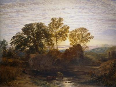 The Water Mill, 19th Century by Samuel Palmer