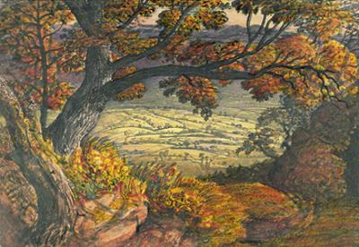 The Weald of Kent, C.1827-28 (W/C and Gouache on Paper) by Samuel Palmer