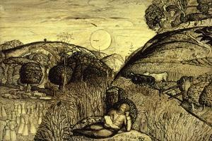 Valley Thick with Corn, 19th Century by Samuel Palmer