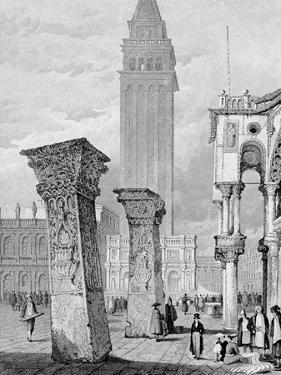 St. Mark's Square, Venice, Engraved by Edward John Roberts (Engraving) by Samuel Prout