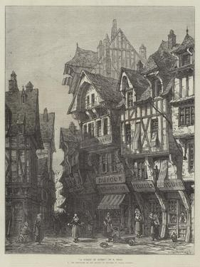A Street in Rouen by Samuel Read