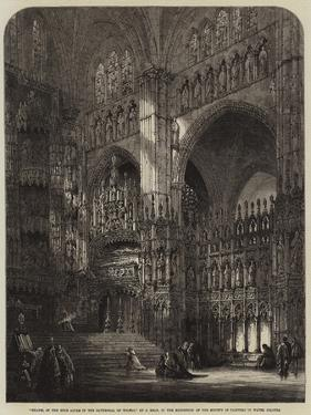 Chapel of the High Altar in the Cathedral of Toledo by Samuel Read