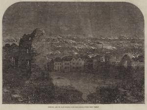 Dudley, and its Iron-Works, from the Castle by Samuel Read