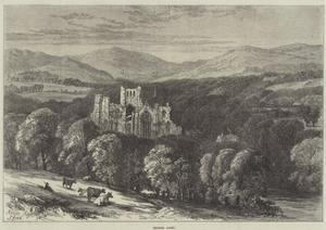 Melrose Abbey by Samuel Read