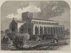The Abbey Church of Bury St Edmunds, Viewed from the Gardens by Samuel Read