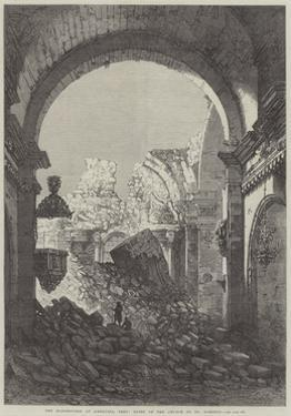 The Earthquake at Arequipa, Peru, Ruins of the Church of St Domingo by Samuel Read