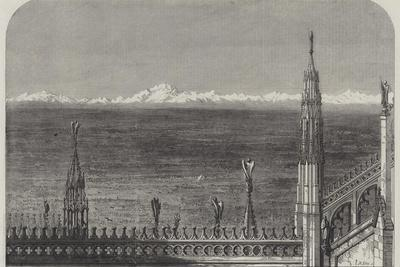 The Plains of Lombardy from the Roof of Milan Cathedral