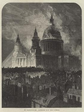 The Thanksgiving Day, Illumination of St Paul's Cathedral by Samuel Read