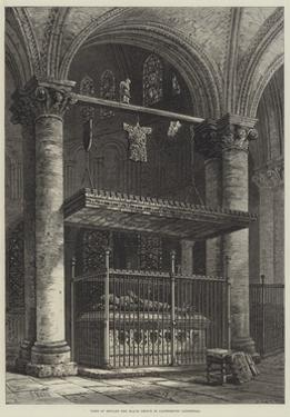 Tomb of Edward the Black Prince in Canterbury Cathedral by Samuel Read