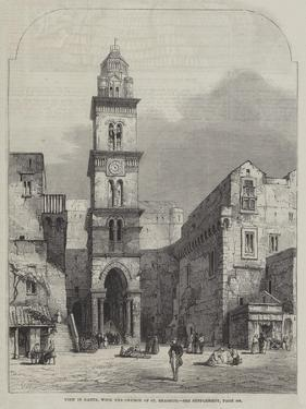 View in Gaeta, with the Church of St Erasmus by Samuel Read