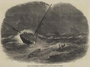 Wreck of the Floridian, Emigrant Ship, on the Long Sands, Off Harwich by Samuel Read