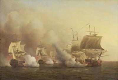 Action Off the Cape of Good Hope, March 9Th, 1757