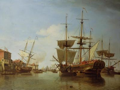 Shipping on the Thames at Rotherhithe, C.1753