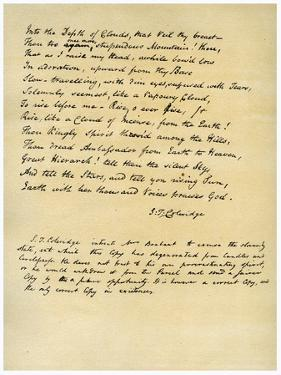 Hymn before Sunrise in the Vale of Chamouny by Samuel Taylor Coleridge