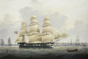 A British Merchantman off the South Coast by Samuel Walters
