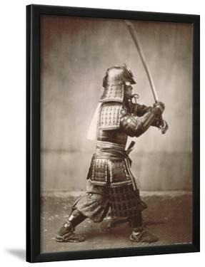 Samurai Brandishing Sword