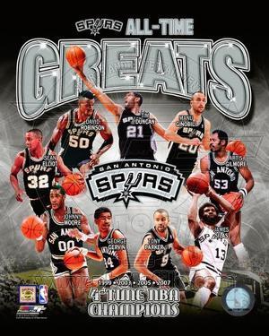 San Antonio Spurs All-Time Greats Composite