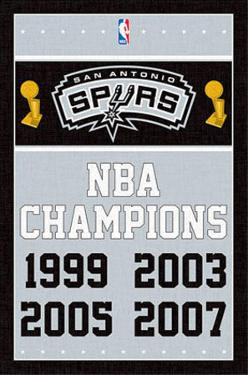 San Antonio Spurs NBA Champions Sports Poster