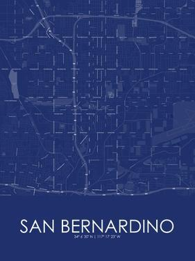 San Bernardino, United States of America Blue Map