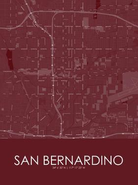 San Bernardino, United States of America Red Map