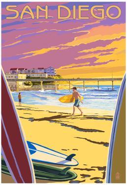 San Diego, California - Beach and Pier