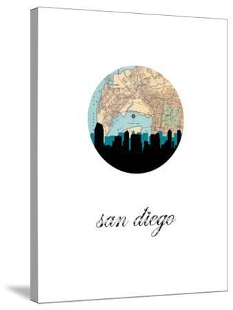 San Diego Map Skyline by Paperfinch 0
