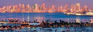 San Diego Skyline at Night and Marina by Andy Z