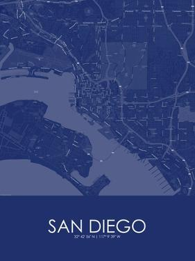 San Diego, United States of America Blue Map