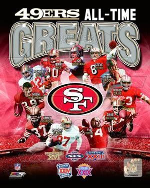 San francisco 49ers posters for sale at allposters san francisco 49ers all time greats composite voltagebd Choice Image