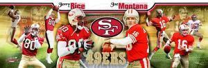 San Francisco 49ers - Jerry Rice, Joe Montana Panoramic Photo