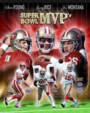 San Francisco 49ers - Steve Young, Jerry Rice, Joe Montana Photo