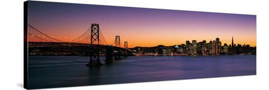 San Francisco at Sunset from Treasure Island--Stretched Canvas Print