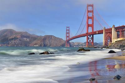 San Francisco Bay and Golden Gate Bridge, San Francisco, California, USA