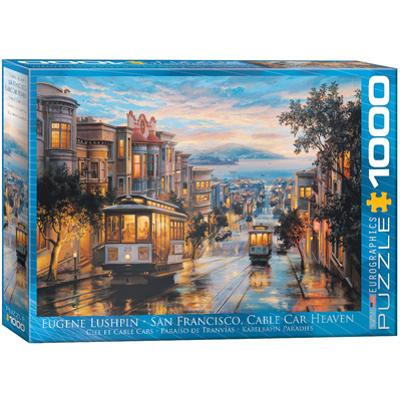 San Francisco Cable Car Heaven by Eugene Lushpin 1000 Piece Puzzle
