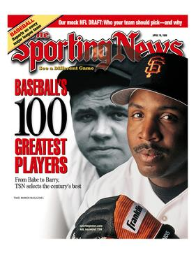 San Francisco Giants OF Barry Bonds and New York Yankees OF Babe Ruth - April 19, 1999