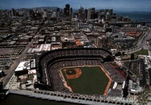 San Francisco - Skyline with Pac Bell Park