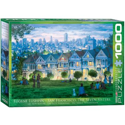 San Francisco The Seven Sisters by Eugene Lushpin 1000 Piece Puzzle
