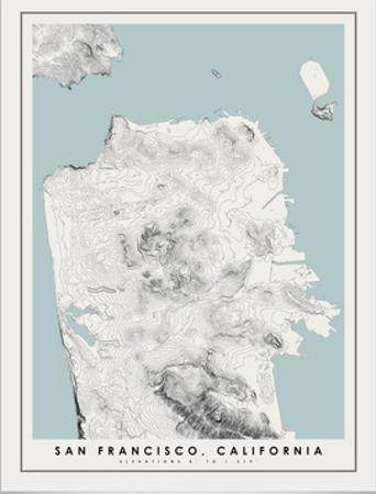 San Francisco Topographical Print