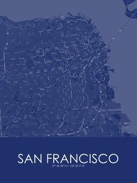 San Francisco, United States of America Blue Map