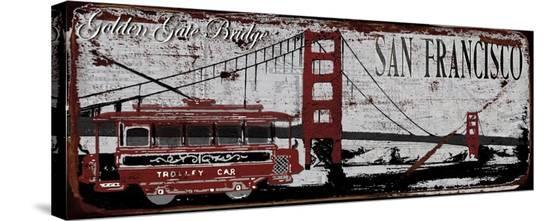 San Franciso Trolley-Karen J^ Williams-Stretched Canvas Print
